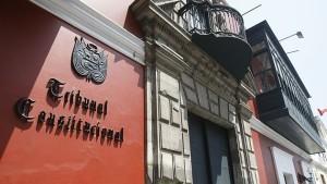 FACHADA DEL TRIBUNAL CONSTITUCIONAL EN EL CENTRO DE LIMA