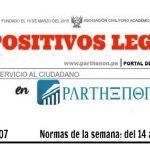 Dispositivos legales de la semana: del 14 al 20 de Agosto