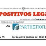 Dispositivos legales del 28 de agosto al 3 de setiembre