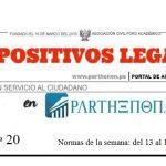 Dispositivos legales del 13 al 19 de noviembre