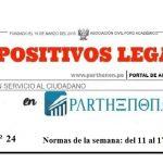 Dispositivos Legales del 11 al 17 de diciembre