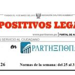 Dispositivos Legales del 25 al 31 de diciembre