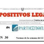 Dispositivos legales del 22 al 28 de enero