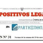 Dispositivos legales del 29 de enero al 04 de febrero