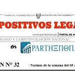 Dispositivos legales del 05 al 11 de febrero