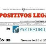 Dispositivos legales del 12 al 18 de marzo