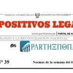 Dispositivos legales del 09 de abril al 15 de abril