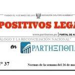 Dispositivos legales del 26 de marzo al 01 de abril
