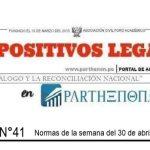 Dispositivos Legales del 30 de abril al 06 de mayo