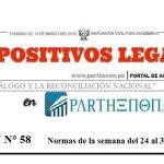 Dispositivos Legales de la semana del 24 al 30 de setiembre