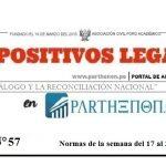 Dispositivos legales de la semana del 17 al 23 de setiembre