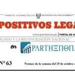 Dispositivos Legales de la semana del 29 de octubre al 04 de noviembre